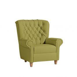 Zelené křeslo Max Winzer Recliner Vicky Leather Green