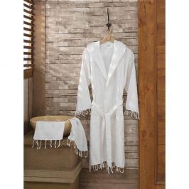 Set bílého županu a ručníku Sultan, vel. L/XL