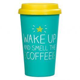 Cestovní hrnek Happy Jackson Wake Up & Smell The Coffee, 400ml