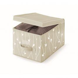 Béžový úložný box Cosatto Leaves, šířka30cm