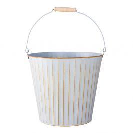 Bílý dekorativní kbelík Clayre & Eef