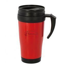 BLAUMANN Termohrnek nerez / plast 400 ml červený BL-3349