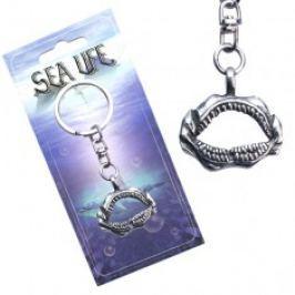 Stříbřitý přívěsek na klíče, otevřená žraločí čelist AA48.18