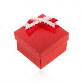 Krabička na prsten nebo náušnice, strukturovaný povrch, mašle U24.20