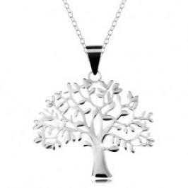 Stříbrný 925 náhrdelník, řetízek a přívěsek - velký košatý strom života AC22.15