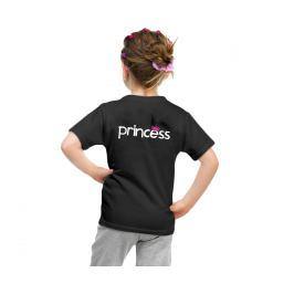 Dívčí triko PRINCESS crown černé