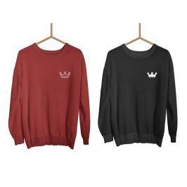 Párové mikiny bez kapuce Clean Crowns (cena za obě mikiny)