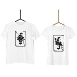 Trička KING & QUEEN BW Cards (cena za obě trička)