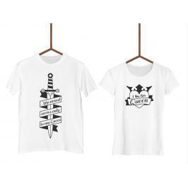 Párová trička Knight & Queen (cena za obě trička)