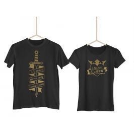 Párová trička Knight & Queen GOLD (cena za obě trička)