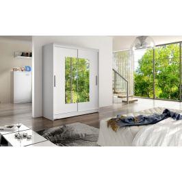 Smartshop Šatní skříň WESTA III, bílý mat/zrcadlo