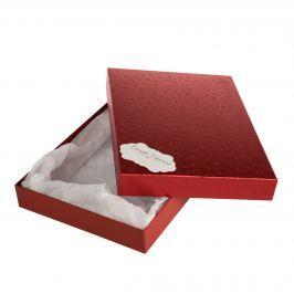Box Ilona 2, červené komety, se jmenovkou a hedvábným papírem