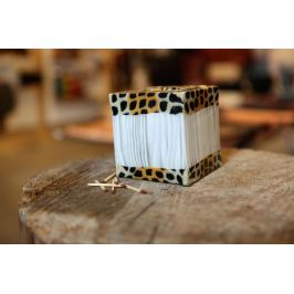 Svíčka Leopard-Bamboo Kostka