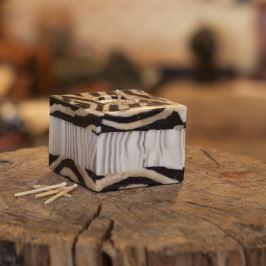 Svíčka Zebra Bamboo Kostka