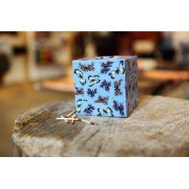 Svíčka Blue Butterfly Kostka