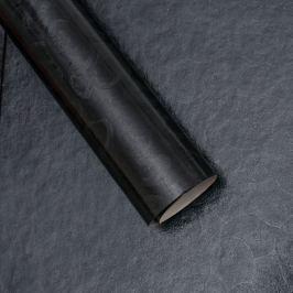 Luxusní strukturovaný balicí papír, černý, vzor spirály
