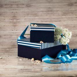 Dárková krabice Bety, pruhovaná velikosti krabice Bety: 2 - 30,5x21x13,5 cm