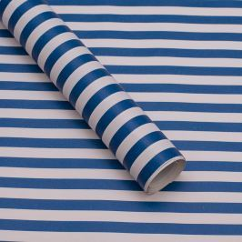 Balicí papír, modro-bílý proužek