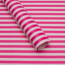Balicí papír, růžovo-bílý proužek