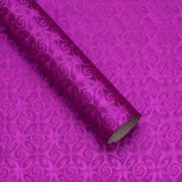 Luxusní strukturovaný balicí papír, fialový, vzor spirály