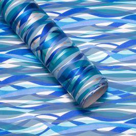 Balicí papír, modro-bílo-zelený