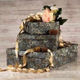 Dárková krabice Lukáš, šedá, vzor razítka velikosti krabice Lukáš: 1 - 31x21x9 cm