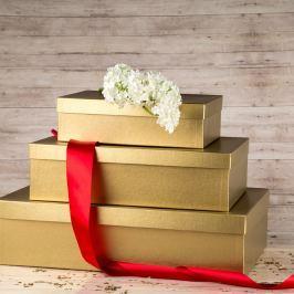 Dárková krabice Lukáš, zlatá natur velikosti krabice Lukáš: 3 - 41x29x11,5 cm