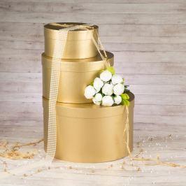 Dárková krabice Lucie, zlatá natur velikosti krabice Lucie: 1 - 20x10 cm