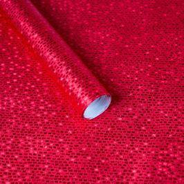 Luxusní strukturovaný balicí papír, červený, vzor cihličky