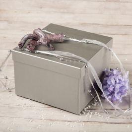Dárková krabice Zina, stříbrná natur