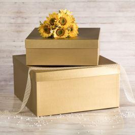 Dárková krabice Marta, zlatý natur velikosti krabice Marta: 1 - 33x33x12 cm