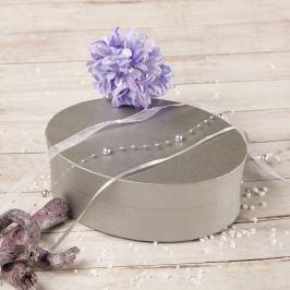 Dárková krabice Barbora, stříbrný natur