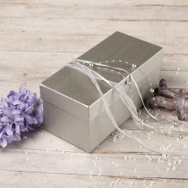 Dárková krabice Jana, stříbrný natur