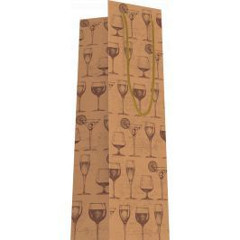 Dárková taška na víno, přírodní