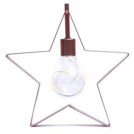 DecoKing Vánoční lampa Hvězdička teplá bílá, 5 LED
