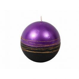 Vánoční svíčka Lumina Gold koule, fialová