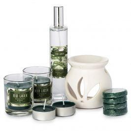 Sada svíček a aromalampy Herb Garden Eucalyptus and mint, 10 ks