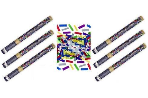 Dárek Konfety 60cm  metalické barevné mix 6 ks Konfety