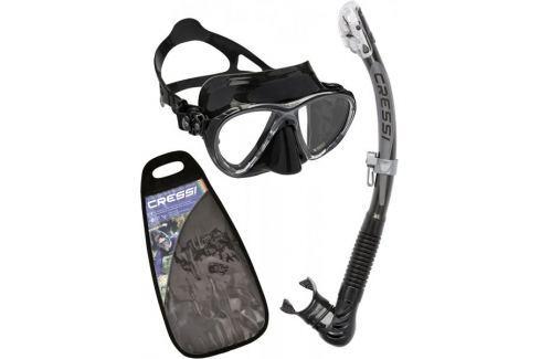 Dárek Cressi Set maska BIG EYES EVOLUTION + šnorchl ULTRA DRY, černá-černá Potápěčské brýle, masky