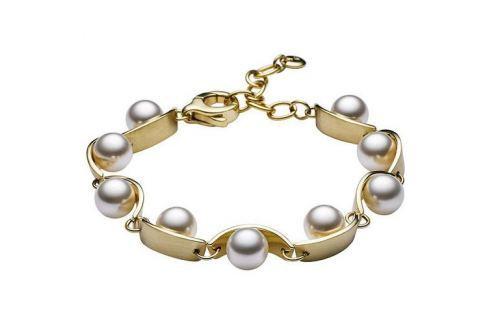 Dárek Skagen Dámský ocelový náramek s perličkami SKJ0762710 Náramky