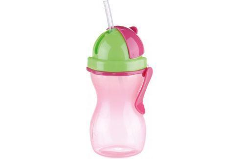 Dárek Tescoma Dětská láhev s brčkem BAMBINI 300ml růžová Hrnky, láhve na pití