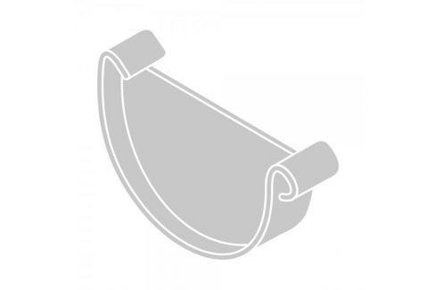 Dárek LanitPlast Čelo žlabu RG 100 půlkulaté stříbrná barva Žlaby