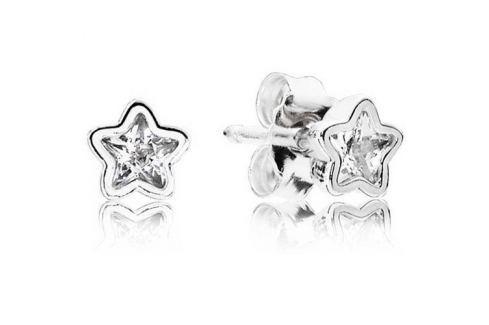 Dárek Pandora Sříbrné náušnice hvězdičky 290597CZ stříbro 925/1000 Náušnice