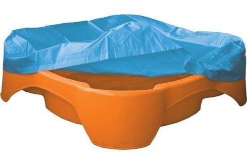Dárek Marian Plast Pískoviště-bazének čtverec s krytím oranžové Pískoviště