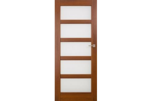 Dárek VASCO DOORS Interiérové dveře BRAGA skleněné, model 6, Kaštan, C Produkty