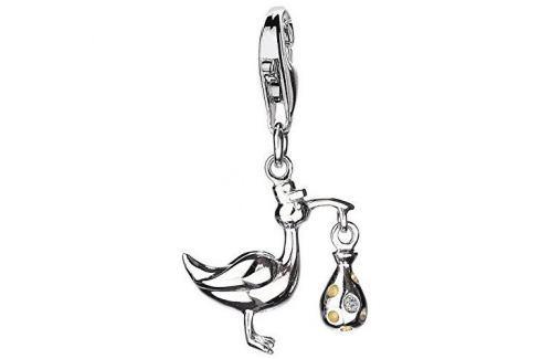 Dárek Hot Diamonds Přívěsek Čáp s miminkem Love Luck Happiness DT146 stříbro 925/1000 Přívěsky
