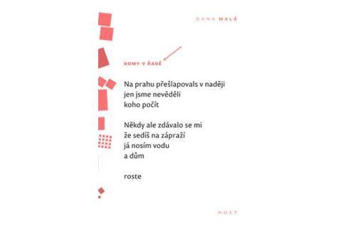 Dárek Malá Dana: Domy v řadě Poezie