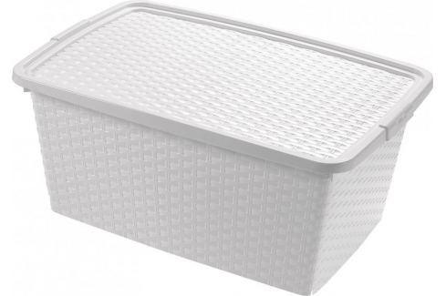 Dárek Heidrun Box ratanový 10 l, bílá Úložné boxy
