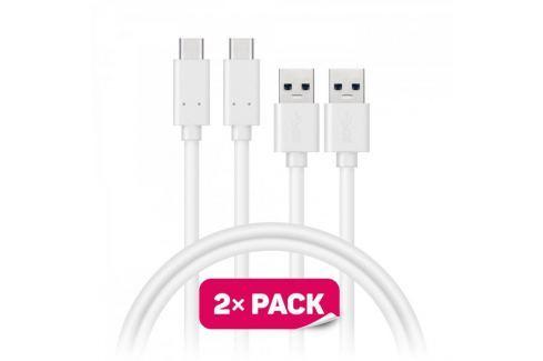 Dárek Connect IT Datový kabel Wirez (USB-C), bílá Nabíječky, kabely