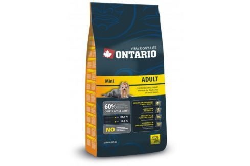 Dárek Ontario Adult Mini 13 kg Granule pro psy